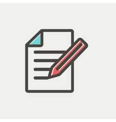 Taking notes thin line icon vector