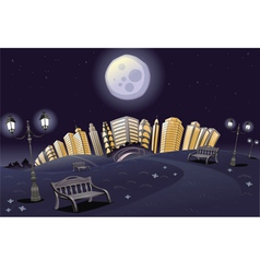 Park in the night vector
