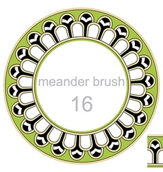Round frame ancient pattern vector