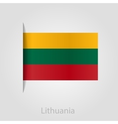 Lithuanian flag vector