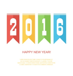 Happy new year 2016 colorful card vector