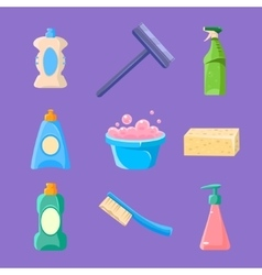 Cleaning and housework icons collection vector