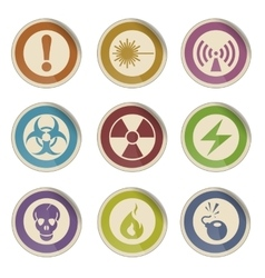 Hazard sign icons vector