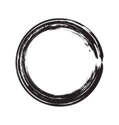 circle shape black grunge background vector image