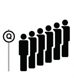 queue vector image
