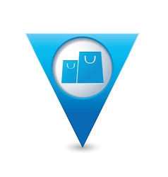 bags icon map pointer blue vector image vector image