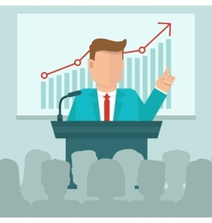 Business conference concept in flat style vector