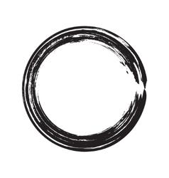 Circle shape black grunge background vector