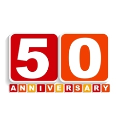 Fifty 50 years anniversary label sign for your vector