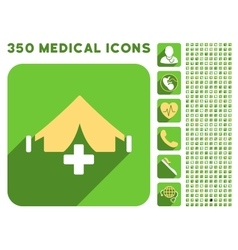 Filed Hospital Icon and Medical Longshadow Icon vector image