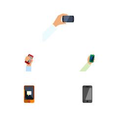 flat icon smartphone set of smartphone telephone vector image