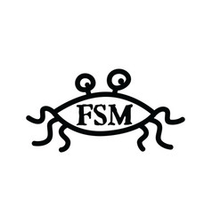 Flying spaghetti monster - atheism satyr god vector