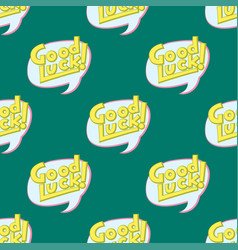 Good luck seamless pattern farewell vector