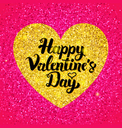 Happy valentines day glitter design vector