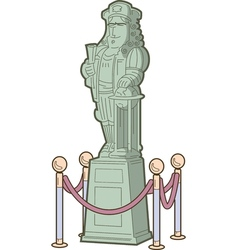 Historical figure statue vector