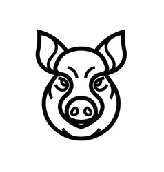Image of swine or pig head vector