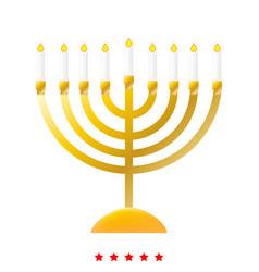 menorah for hanukkah icon different color vector image