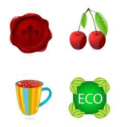 nature symbols set vector image