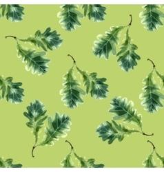 Oak leaf watercolor seamless pattern vector