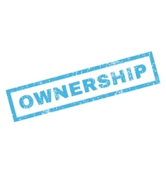 Ownership rubber stamp vector