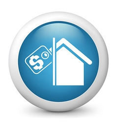 Real Estate Glossy Icon vector image vector image