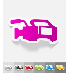 realistic design element camcorder vector image