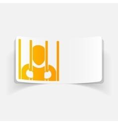realistic design element prisoner vector image