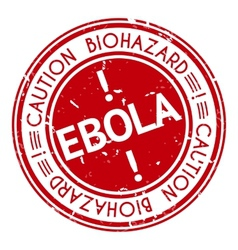 Red stamp with Ebola concept text on white vector image vector image