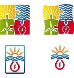 renewable energy sign vector image
