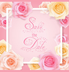 save the date card vector image