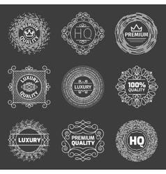 set of luxury logo Premium quality emblems vector image