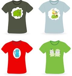 Set of t-shirts vector
