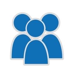 Teamwork isolated icon design vector