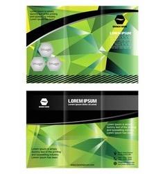 Tri-fold brochure design elemenr vector