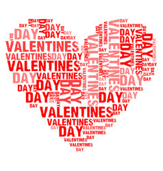 Valentines day white bg vector