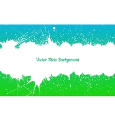 White ink splashes over blue green vector