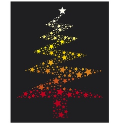 abstract christmas tree with stars vector image