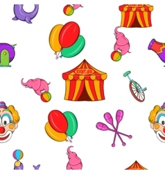 Concert in circus pattern cartoon style vector