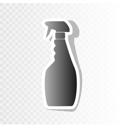 Plastic bottle for cleaning  new year vector