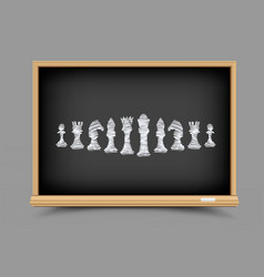 Chess strategy lesson vector
