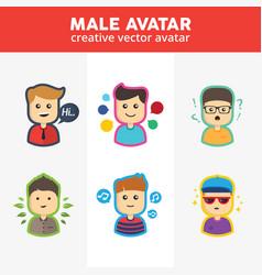 Creative male avatar vector
