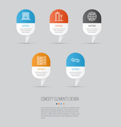 Travel icons set collection of plane schedule vector