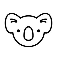 Koala face simplified vector