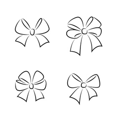 Sketch gift bows vector