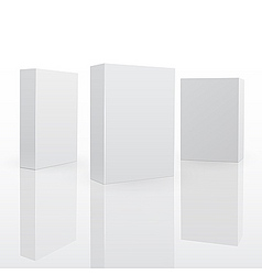 blank software box vector image
