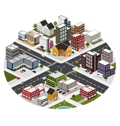 Intersection in the big city vector