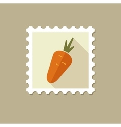 Carrot flat stamp with long shadow vector