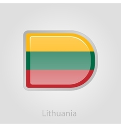 Lithuanian flag button vector