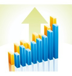 3d business graph vector image