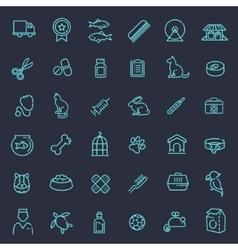 Outline web icon set - pet vet pet shop vector